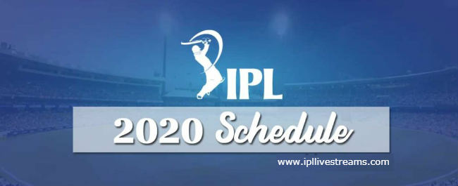 IPL 2020 Schedule Free PDF Download