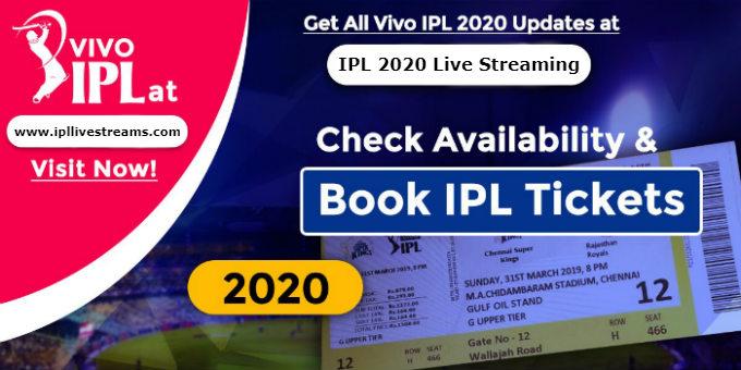 IPL 2020 Tickets Buy Online & Book Offline